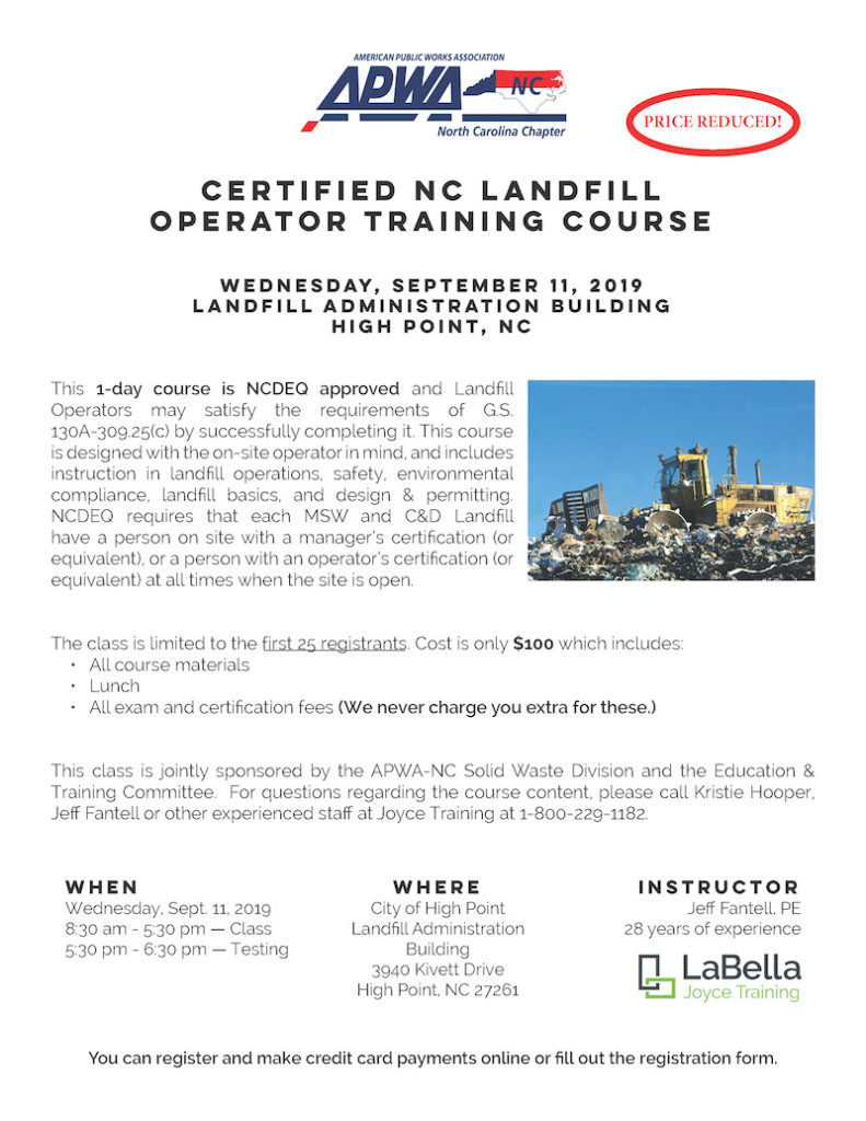 APWA single pg_Landfill Operator Training_09-11-19